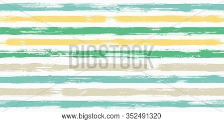 Trendy Watercolor Brush Stripes Seamless Pattern. And Paintbrush Lines Horizontal Seamless Texture F