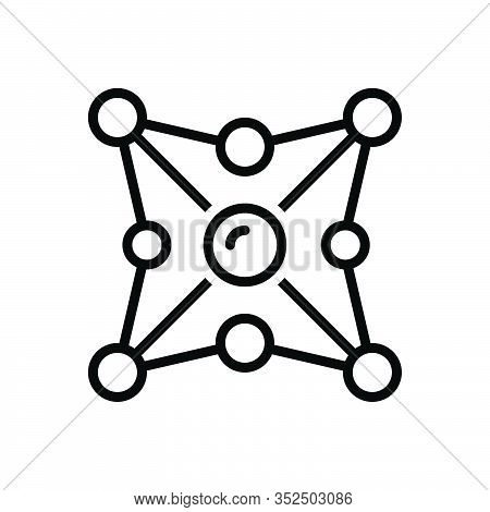 Black Line Icon For Networking Network Organization Web Net Grid Cyber Internet Collaboration Intera