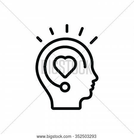 Black Line Icon For Inspiration Spur Stimulus Encouragement Boost Fillip Incentive Motivation Enthus