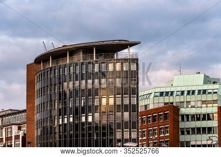 Modern Architecture Buildings In The Hafencity Of Hamburg