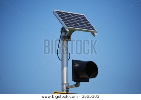 Solar Panel With Caution Light