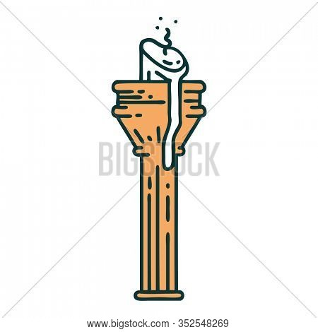 iconic tattoo style image of a candelabra