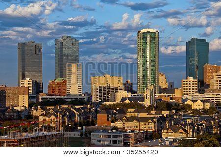 Stadtansicht von Fort Worth Texas
