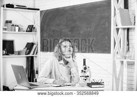 Stressful Scientist. Stressful Educator. Teacher Stressful Occupation. Pressure Nervous Tense. Girl