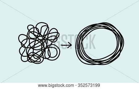 Chaos And Disorder Turns Into A Formed Even Tangle With One Line. Chaos And Order Theory.