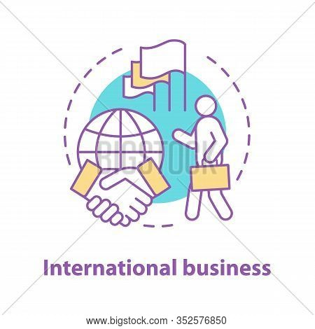 International Business Concept Icon. Diplomacy Idea Thin Line Illustration. Global Trade. Business D