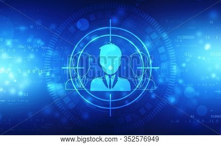 Business Customer Targeting Line Icon. Marketing Target Strategy Symbol, Target Audience, Customer