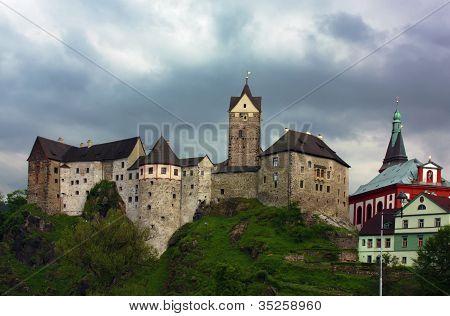 The Castle Loket,czech Republic