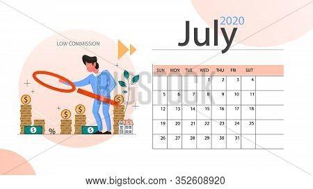 Real Estate Advantage Annual Calendar July. Idea Of House For Sale