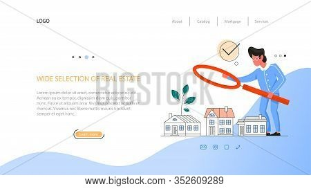 Real Estate Advantage Web Banner. Idea Of Wide Selection Of House
