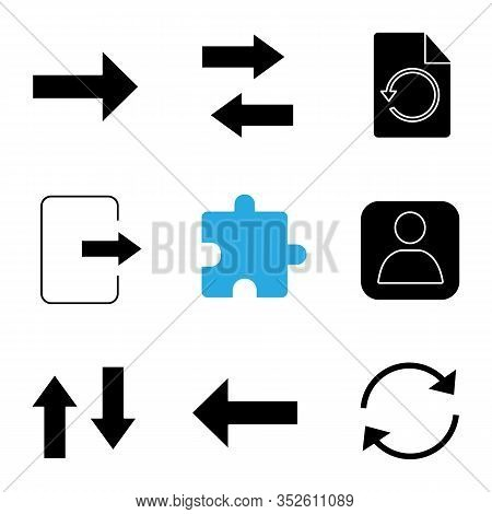 Ui, Ux Glyph Icons Set. Next, Vertical And Horizontal Swap, Restore Page, Exit, Extension, Userpic,