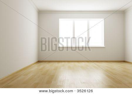 leere neue Zimmer