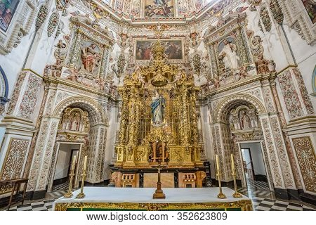 Granada, Spain: View Of Interior Details Of Granada Charterhouse - Carthusian Monastery In Granada,