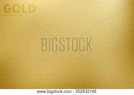 Abstract Gradient Golden Desing Of Mesh Background With Halftone. Decorate For Ad, Poster, Artwork,