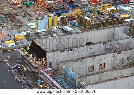 Gothenburg, Sweden - August 27, 2018: Construction Works In Gothenburg, Sweden. Gothenburg Is The 2n