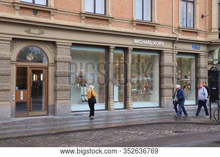 Gothenburg, Sweden - August 27, 2018: Michael Kors Store In Gothenburg, Sweden. Monthly Consumer Spe