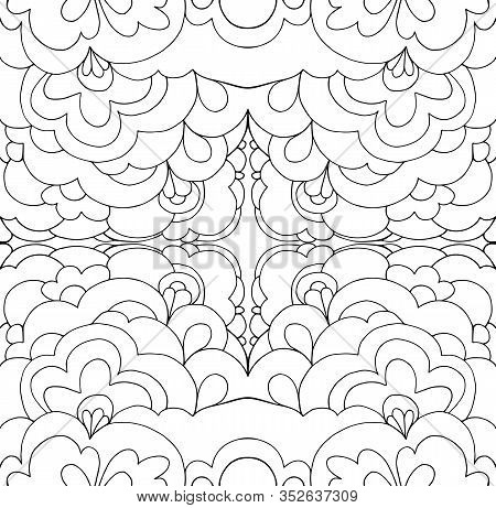 Intricate Abstract Psychedelic Line Ornament Coloring Page