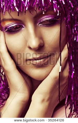 Fashion Portrait Of Young Sexy Woman Face