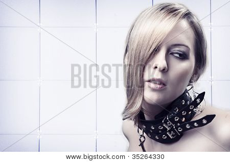 Portrait Of Sexy Blond Woman