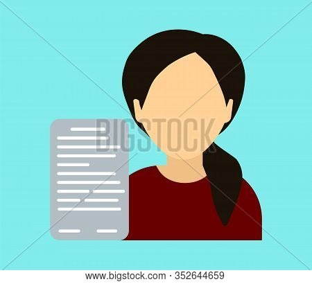 Submission Of Resumes For Hiring - Vector Illustration