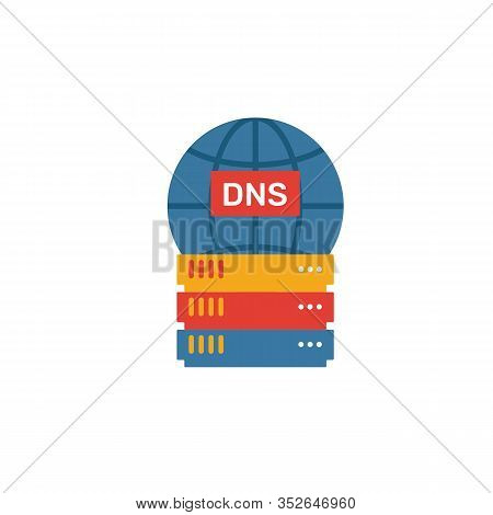 Dns Icon. Simple Element From Web Hosting Icons Collection. Creative Dns Icon Ui, Ux, Apps, Software