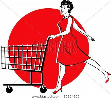 Woman Shopping Clip Art