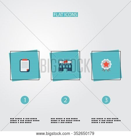 Set Of Marketing Icons Flat Style Symbols With Advertising Agency, Client Brief, Brand Awareness Ico