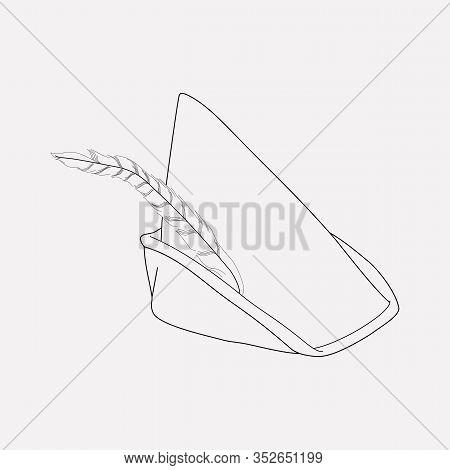Robin Hood Hat Icon Line Element. Vector Illustration Of Robin Hood Hat Icon Line Isolated On Clean