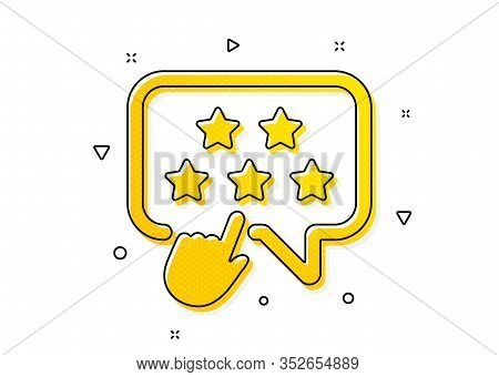 Click Rating Sign. Ranking Star Icon. Brand Ambassador Rank Symbol. Yellow Circles Pattern. Classic