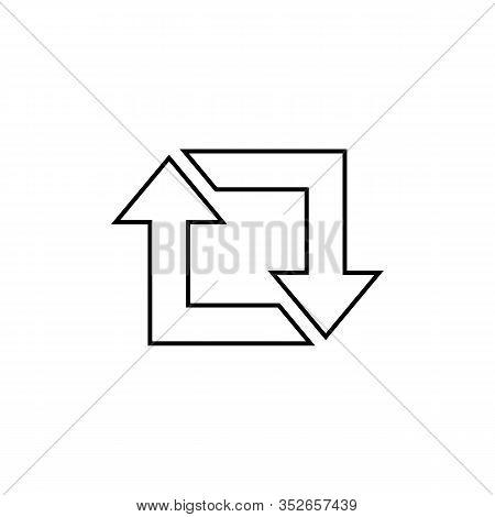 Repost Line Icon, Repost Symbol, Repost Sign. Vector Illustration