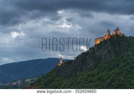 Convento Sabiona Kloster Saeben Castle In Chiusa On The Top Of A Mountain
