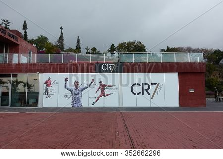 Funchal, Portugal - March 1, 2018: Cr7 Cristiano Ronaldo Museum In Funchal, Madeira