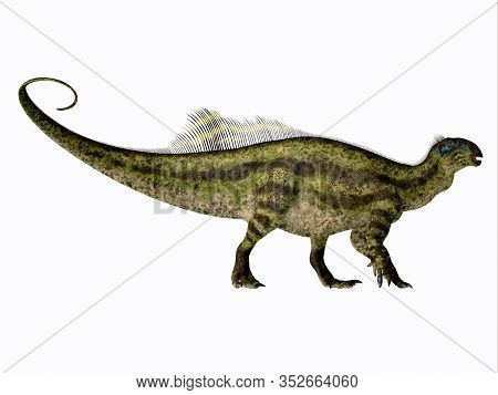 Tenontosaurus Dinosaur Side Profile 3d Illustration - Tenontosaurus Was An Ornithopod Herbivorous Di