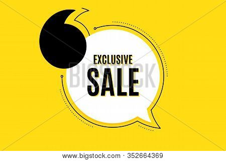 Quote Banner With Text. Exclusive Sale. Special Offer Price Sign. Advertising Discounts Symbol. Text
