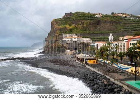 Ponta Do Sol, Portugal - March 1, 2018: View Of Ponta Do Sol Village In Madeira