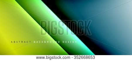 Straight lines with shadows and light on gradient background. Trendy simple fluid color gradient abstract background with dynamic straight shadow line effect. Illustration For Wallpaper, Banner