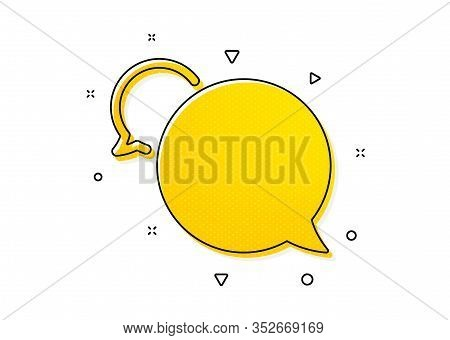 Speech Bubble Sign. Messenger Icon. Chat Message Symbol. Yellow Circles Pattern. Classic Messenger I