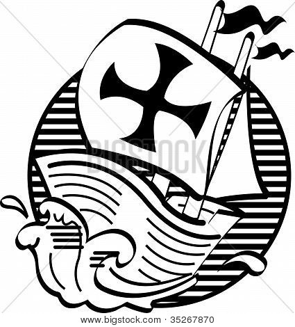 Mayflower Thanksgiving Black And White Clip Art
