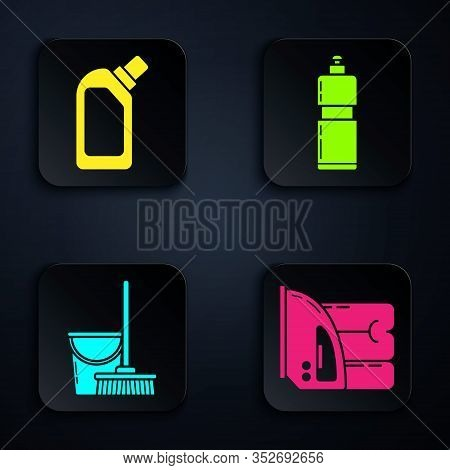 Set Electric Iron And Towel , Plastic Bottles For Liquid Dishwashing Liquid, Mop And Bucket And Plas
