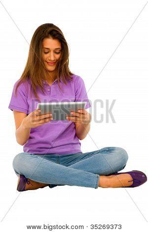 Teenage Girl Using Ipad