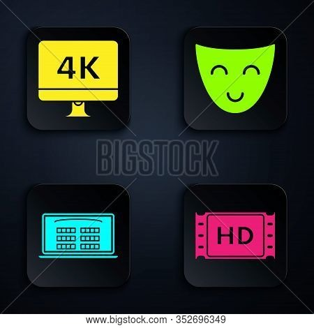 Set 4k Movie, Tape, Frame , Computer Pc Monitor With 4k Video Technology , Buy Cinema Ticket Online
