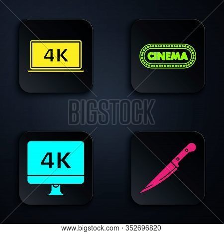 Set Knife , Laptop Screen With 4k Video Technology , Computer Pc Monitor With 4k Video Technology An