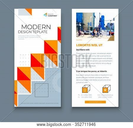 Dl Flyer Design With Square Shapes, Corporate Business Template For Dl Flyer. Creative Concept Flyer