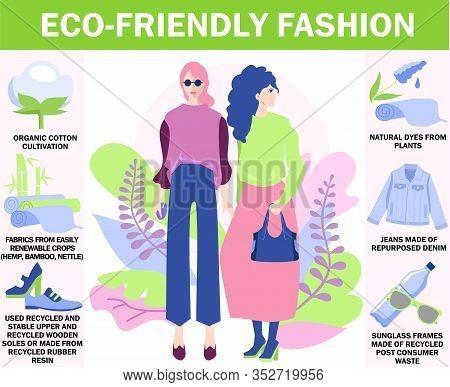 Eco-friendly Fashion. Environmentally-friendly Clothing, Eco-friendly Fashion And Textiles, Fair-tra
