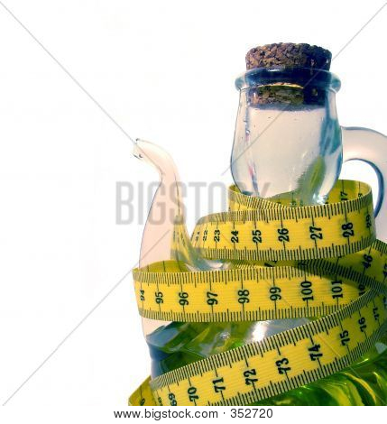 Oilcan With Measuring Tape