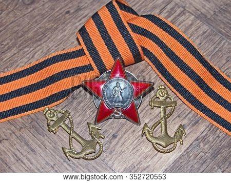 Yekaterinburg, Russia - 05/09/2020: Chevron Of A Seaman