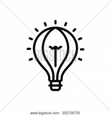 Black Line Icon For Idea Conclusion Enterprising Visionary Concept Consideration Elelectric Creative