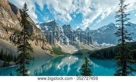 Afternoon Shot Of Moraine Lake In Canada