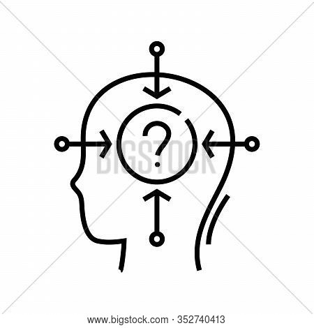 Complicated Question Line Icon, Concept Sign, Outline Vector Illustration, Linear Symbol.