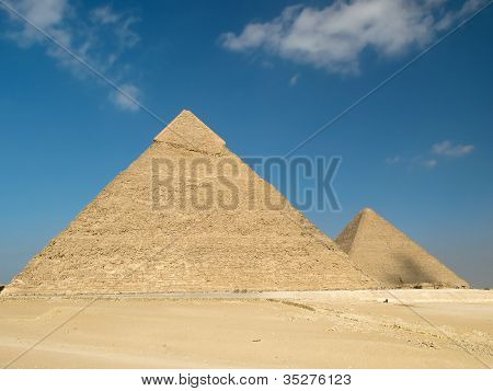Pyramid of chephren in Giza in Egypt